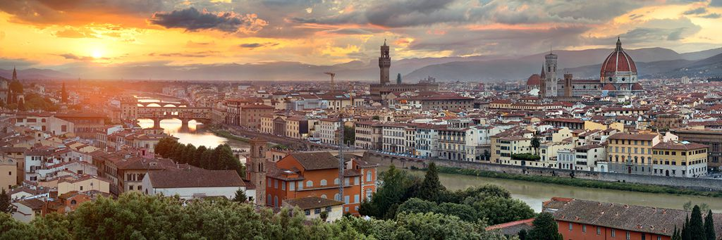 Florence, perfect sunset. Preview photo from my Italy trip.