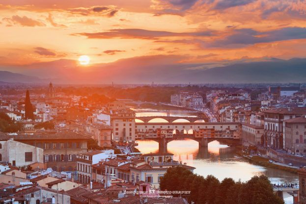 Florence Sunset,