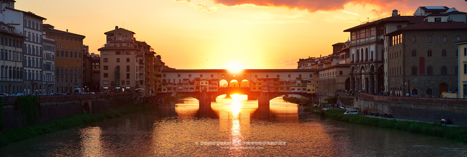 Florence sunset panorama