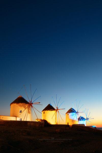 Windmills dusk