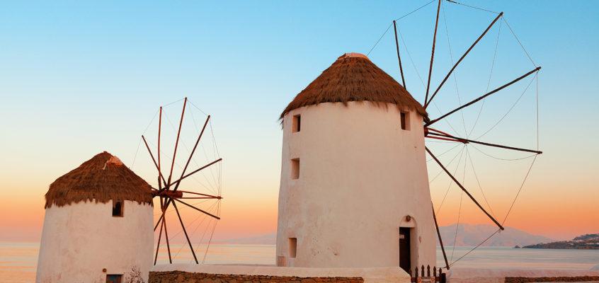 Two Windmills, Mykonos, Greece
