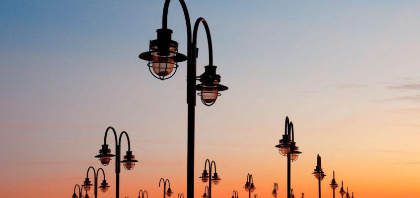 Light poles, Liberty Park, New Jersey