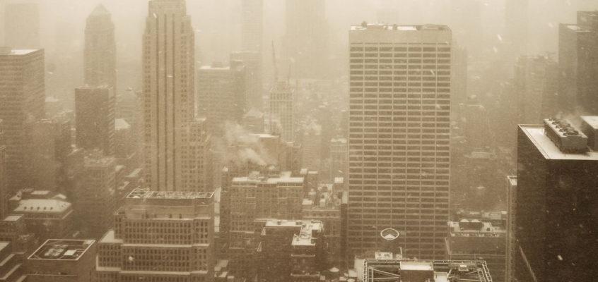 Snowing, New York City