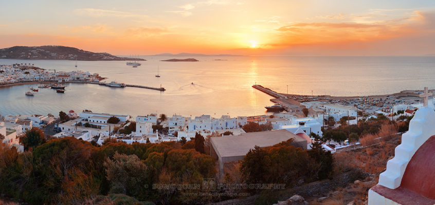 Sunset Panorama, Mykonos, Greece