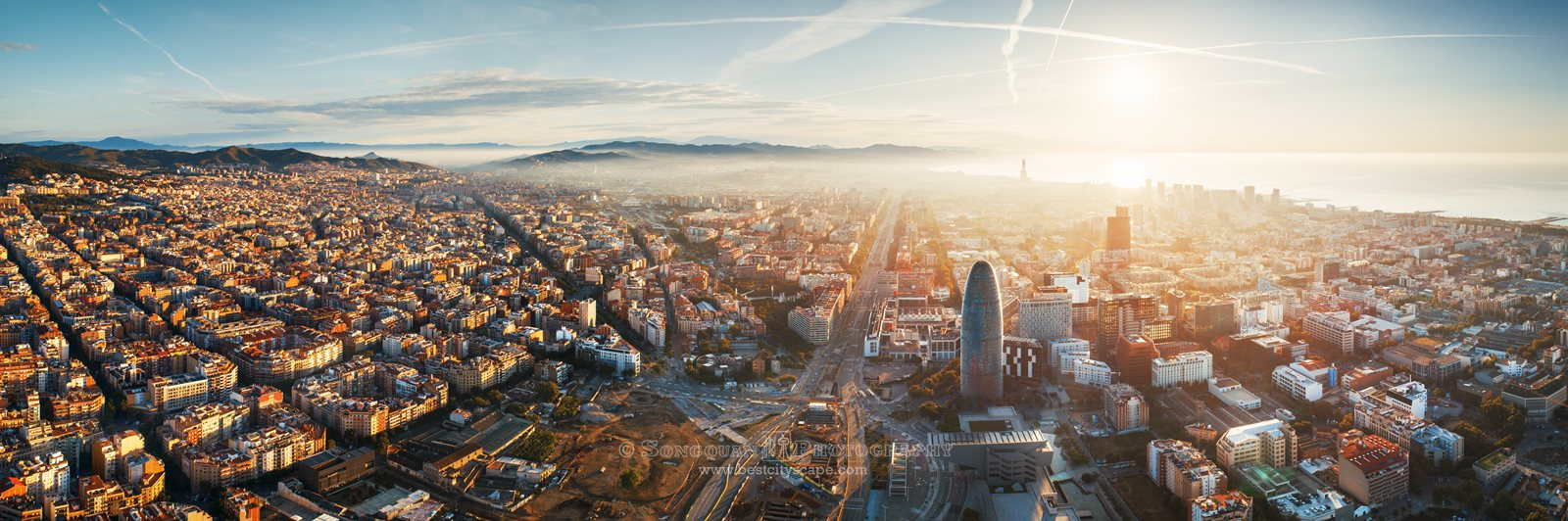 Aerial View Barcelona Spain Songquan Photography
