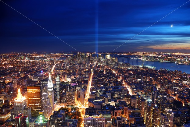 New York City Aerial View At Night Songquan Photography